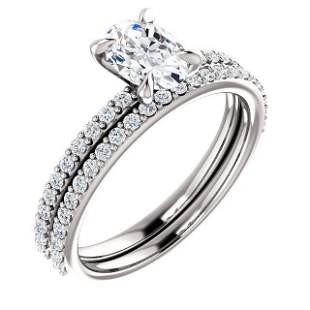 Natural 2.92 CTW Oval Cut Diamond Engagement Ring 14KT