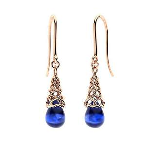 1.64 CTW Sapphire Drops Earrings 14K Rose Gold