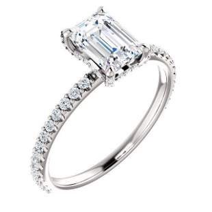 Natural 2.02 CTW Diamond Basket Emerald Cut Diamond