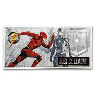 2018 Niue 5 gram Silver $1 Note Justice League The