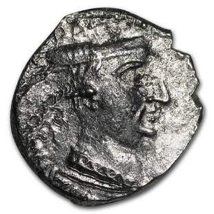India Silver AR Drachm Western Satraps Nahapana (10-100