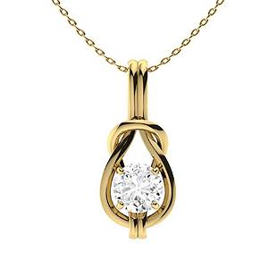 1.02 ctw Diamond Necklace 18K Yellow Gold