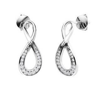 0.39 CTW Diamond Drops Earrings 18K White Gold