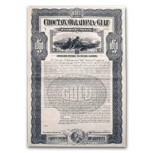 Choctaw, Oklahoma and Gulf Railroad Company Gold Bond