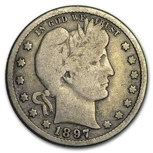 1897-O Barber Quarter VG