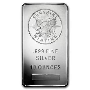 10 oz Silver Bar - Sunshine (Mint Mark SI)