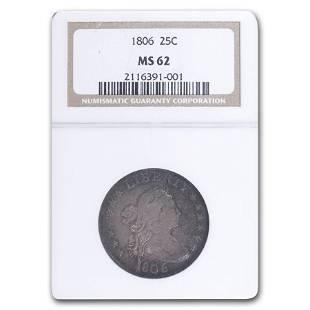 1806 Draped Bust Quarter MS-62 NGC