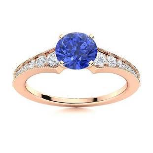 Natural 2.26 CTW Ceylon Sapphire & Diamond Engagement