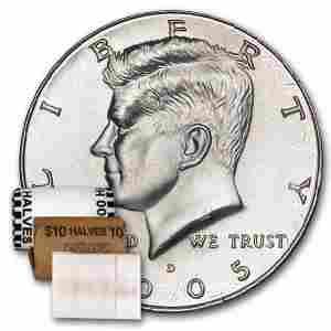 2005-D Kennedy Half Dollar 20-Coin Roll BU