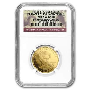 2012-W 1/2 oz Proof Gold Frances Cleveland 2nd Term