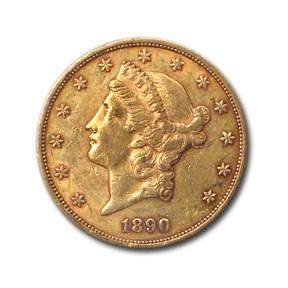 1890-S $20 Liberty Gold Double Eagle XF