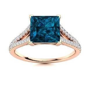 Natural 1.19 CTW Topaz & Diamond Engagement Ring 14K
