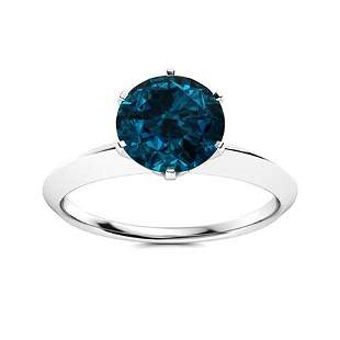 Natural 2.52 CTW Topaz Solitaire Ring 18K White Gold