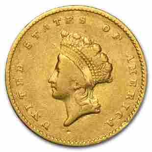 $1 Indian Head Gold Dollar Type 2 VF (Random Year)