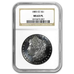 1883-CC Morgan Dollar MS-63 PL NGC