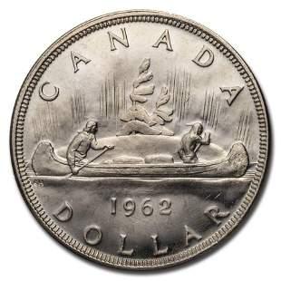 1962 Canada Silver Dollar BU/Prooflike
