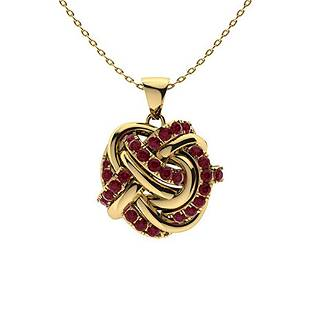 0.29 ctw Ruby Necklace 14K Yellow Gold