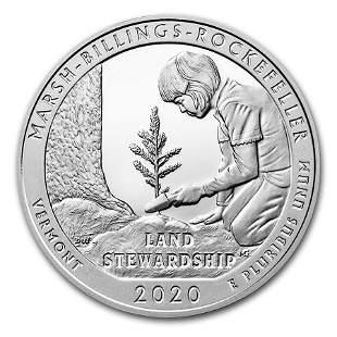 2020 5 oz Silver ATB Marsh-Billings-Rockefeller Nat'l