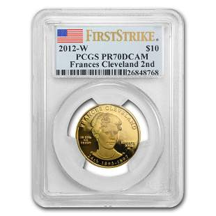 2012-W 1/2 oz Gold Frances Cleveland 2nd Term PR-70