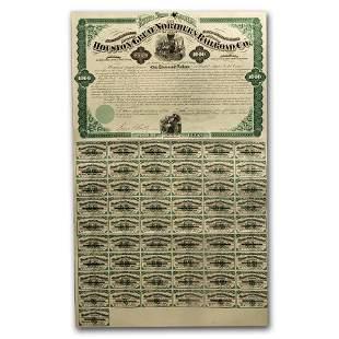 $1,000 Gold Bond - Houston & Great Northern Railroad