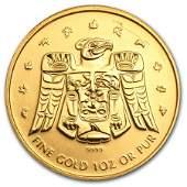 2009 Canada 1 oz Gold Maple BU (Vancouver Olympics,