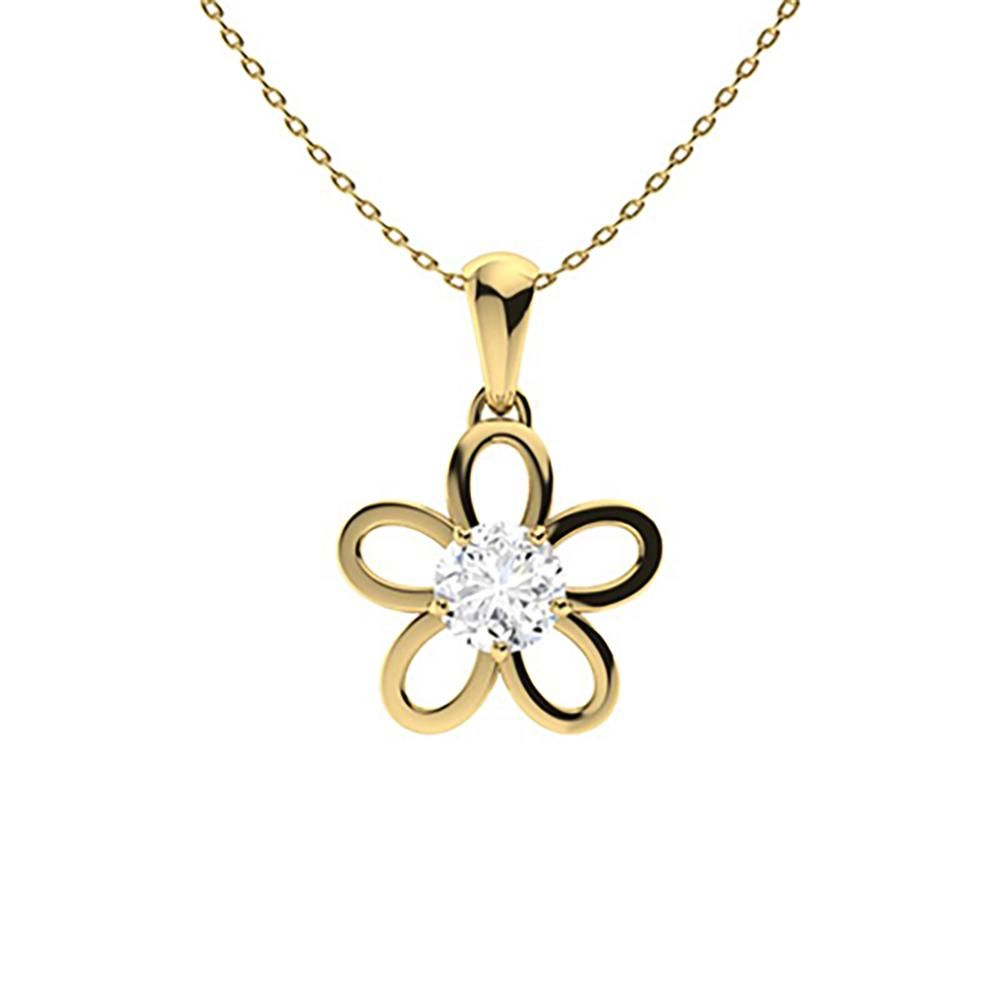 1.02 ctw Diamond Necklace 14K Yellow Gold