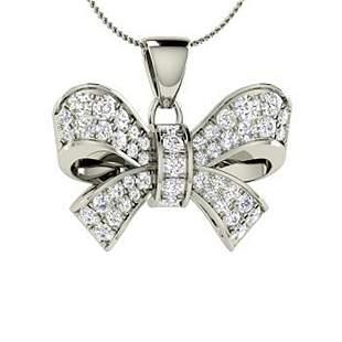 0.44 ctw Diamond Necklace 14K White Gold