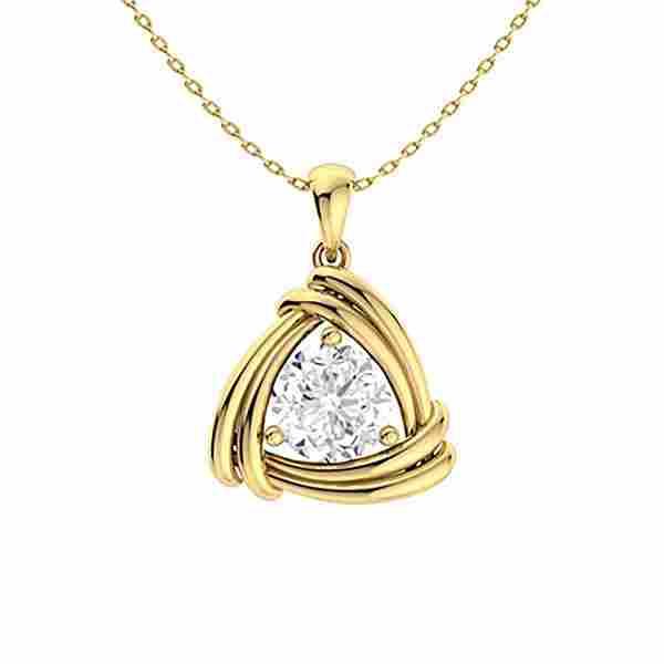0.47 ctw Diamond Necklace 14K Yellow Gold