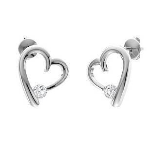 0.26 CTW Diamond Drops Earrings 18K White Gold