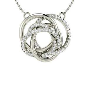 0.36 ctw Diamond Necklace 14K White Gold