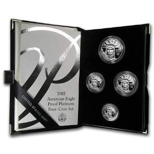 4-Coin Proof Platinum Eagle Set (Random Year, w/Box &