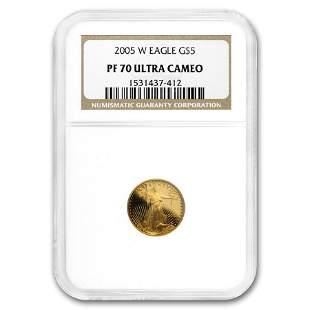 2005-W 1/10 oz Proof American Gold Eagle PF-70 NGC