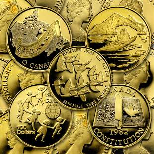 1976-1986 Canada 1/2 oz Proof Gold $100 (Random Year)