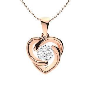 0.82 ctw Diamond Necklace 18K Rose Gold
