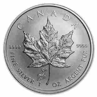 2015 Canada 1 oz Silver Maple Leaf Lunar Sheep Privy