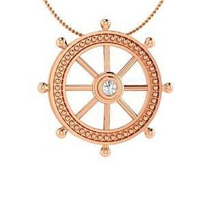 0.05 ctw Diamond Necklace 18K Rose Gold