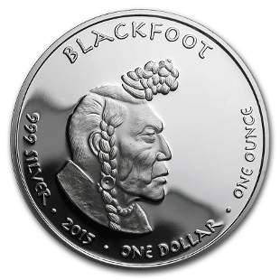 2015 1 oz Silver Proof State Dollars Idaho Blackfoot