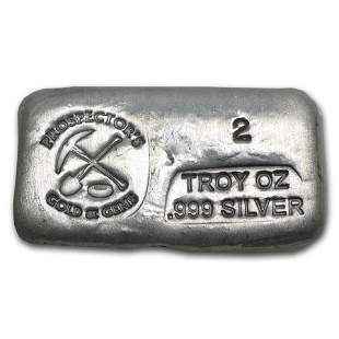 2 oz Hand Poured Silver Bar - PG & G
