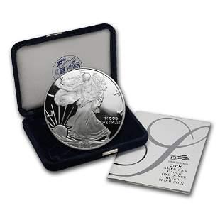 2006-W 1 oz Proof American Silver Eagle (w/Box & COA)