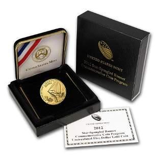 2012-W Gold $5 Commem Star Spangled Banner BU (w/Box &