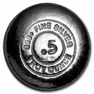 1/2 oz Hand Poured Silver Round - YPS