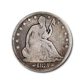 1873 Liberty Seated Half Dollar w/Arrows Good