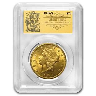 1898-S $20 Liberty Gold Double Eagle BU PCGS
