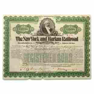 $10,000 Gold Bond - The New York and Harlem Railway