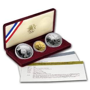1983 & 1984 3-Coin Commem Olympic Proof Set (w/Box &