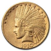 1910-S $10 Indian Gold Eagle XF