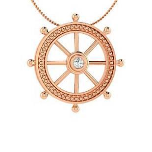 0.05 ctw Diamond Necklace 14K Rose Gold