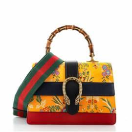 Gucci Dionysus Bamboo Top Handle Bag Floral Jacquard
