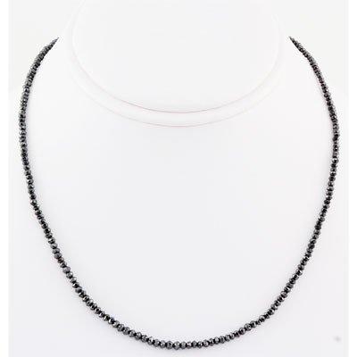 BD0001A: 31.56ctw AA Quality Natural Black Diamond Neck