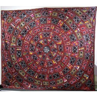 "93 X 79 "" Dim.Indian Handmade Embroider Wall Art Fabric"